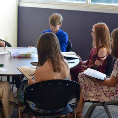 Picture of youth in Sunday School